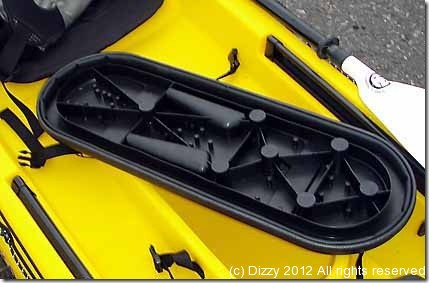 New Ocean Kayak Trident rod pod cover (underside)
