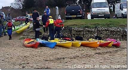 Poole harbour meet - demo kayak fleet