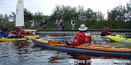 Kayak invasion at Llangorse