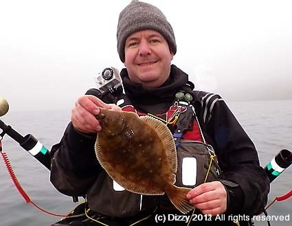 Dizzy with his first plaice