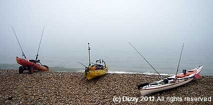 A foggy day on North Halsands beach