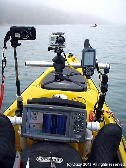 Using side imaging sonar to lcoate sand banks
