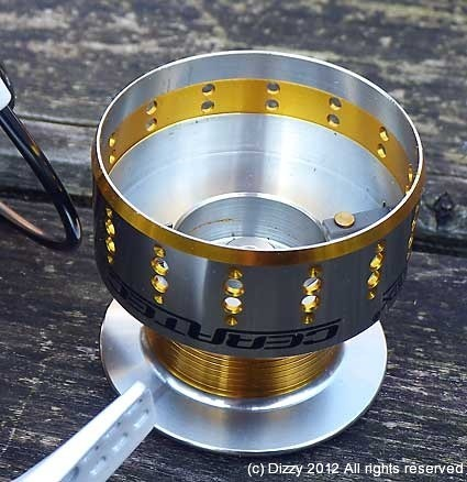 Inside the spare aluminium spool