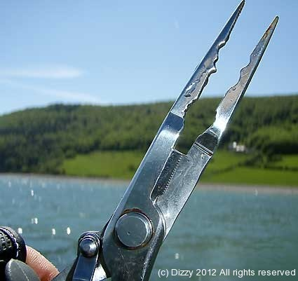 Needle pliers make short work of deeply hooked smaller fish