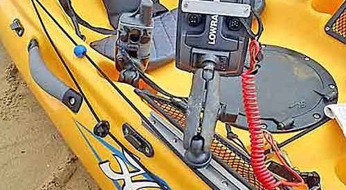Hobie Revolution Kayak – Fishfinder mount