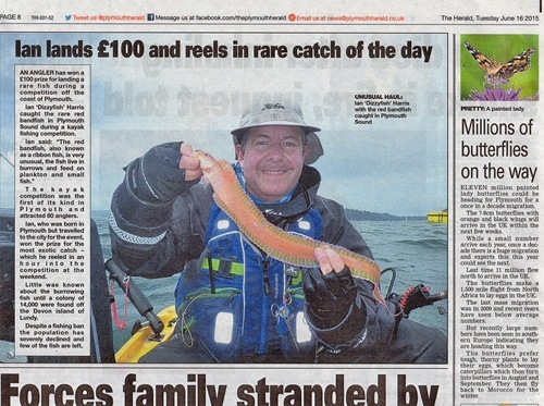 June Red band fish Plymouth Herald June 2015