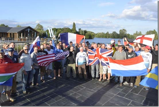 12 countries represented in the 2017 London International Kayak fishing festival